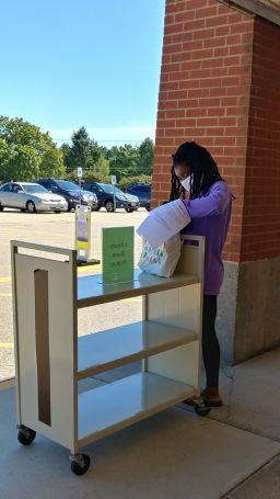 Stoughton High School launches library curbside pickup
